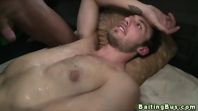 Cum Covered Straight Bait Dude Relaxes