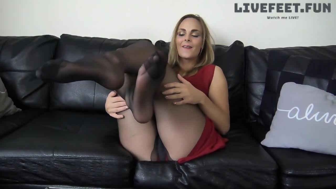 Nylon Teen Feet