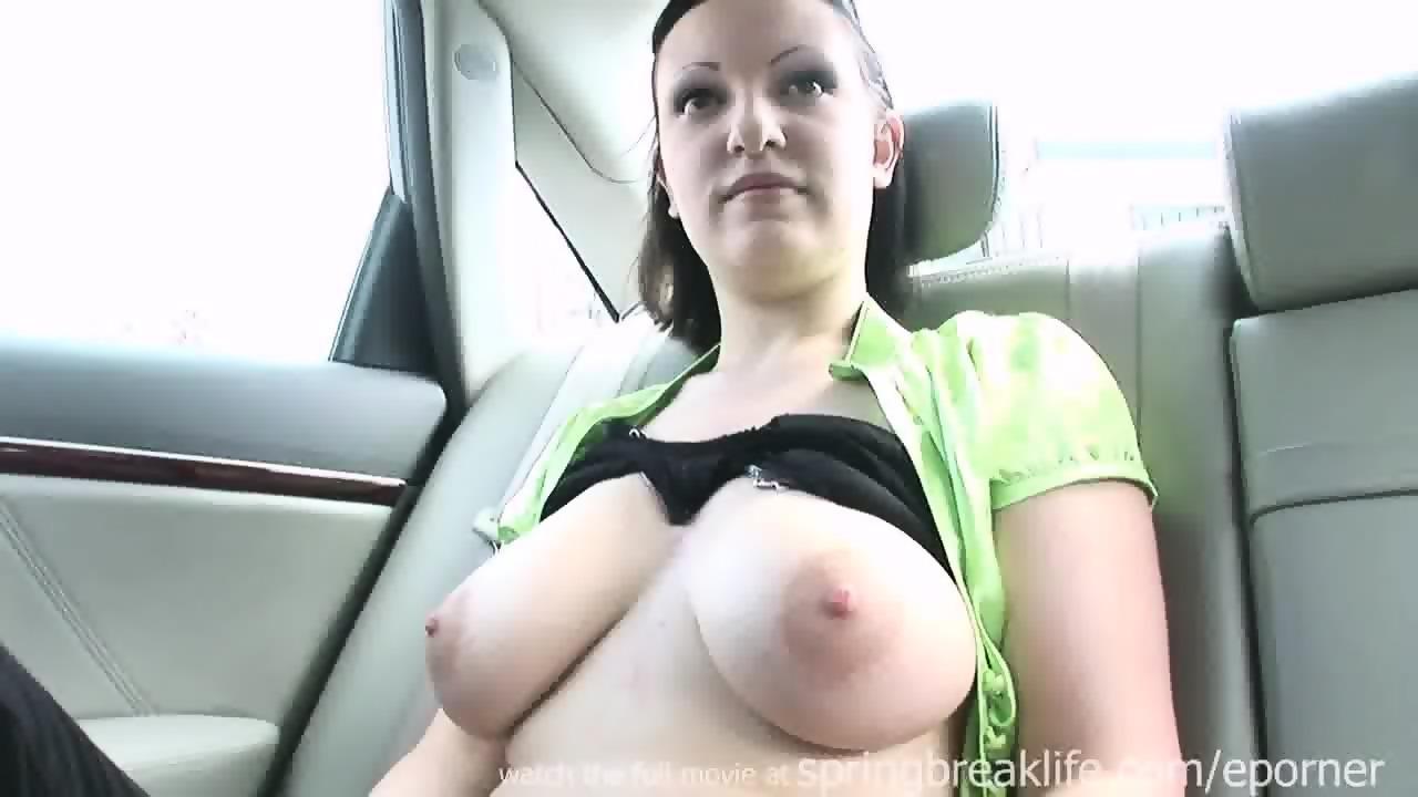 Redhead Big Tits Facial