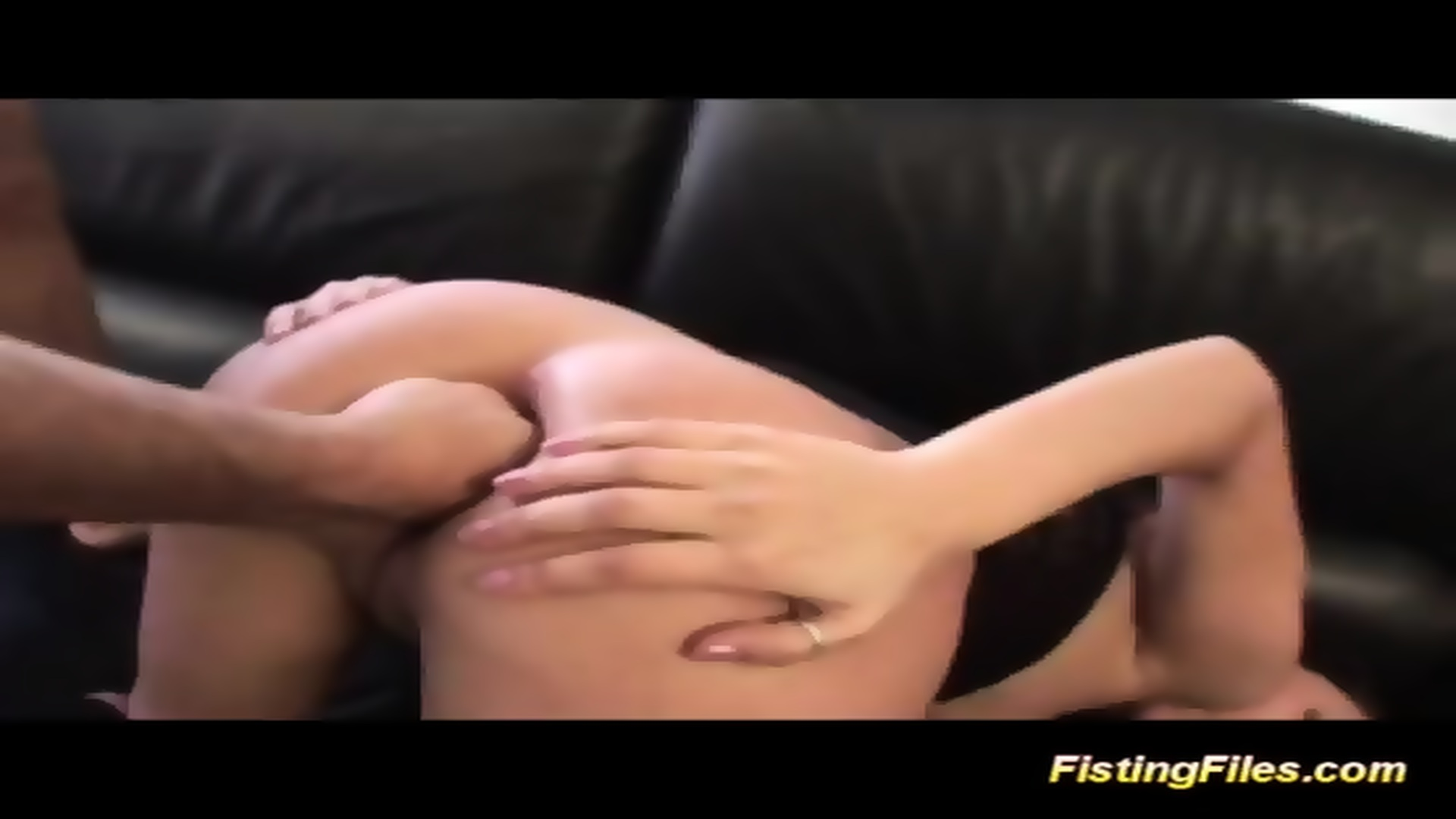 Rough anal fisting