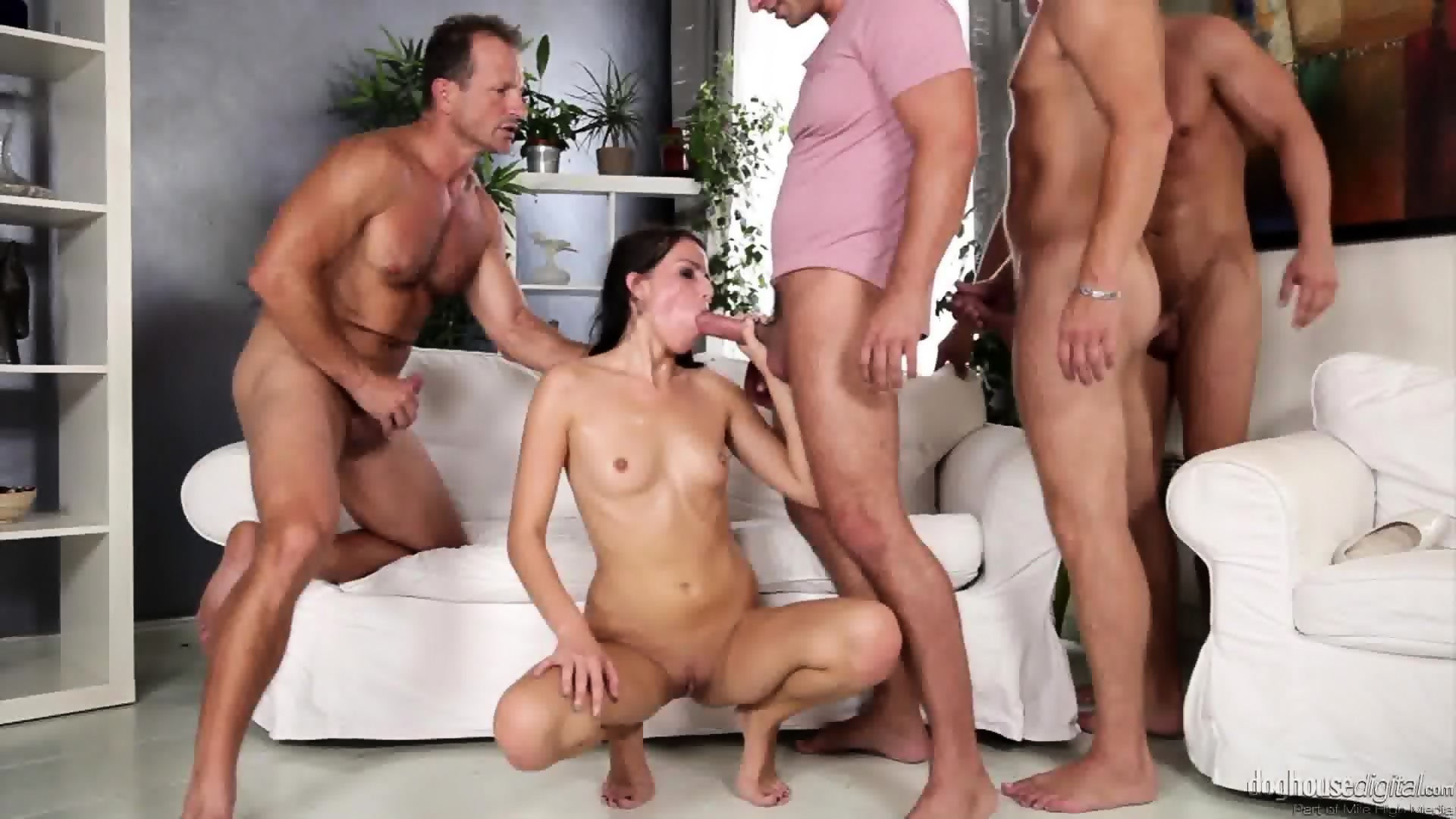 Brunette hot orgy