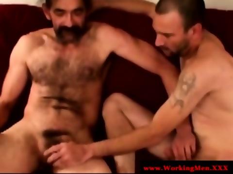 Straight Horny Mature Bears Oral Fun