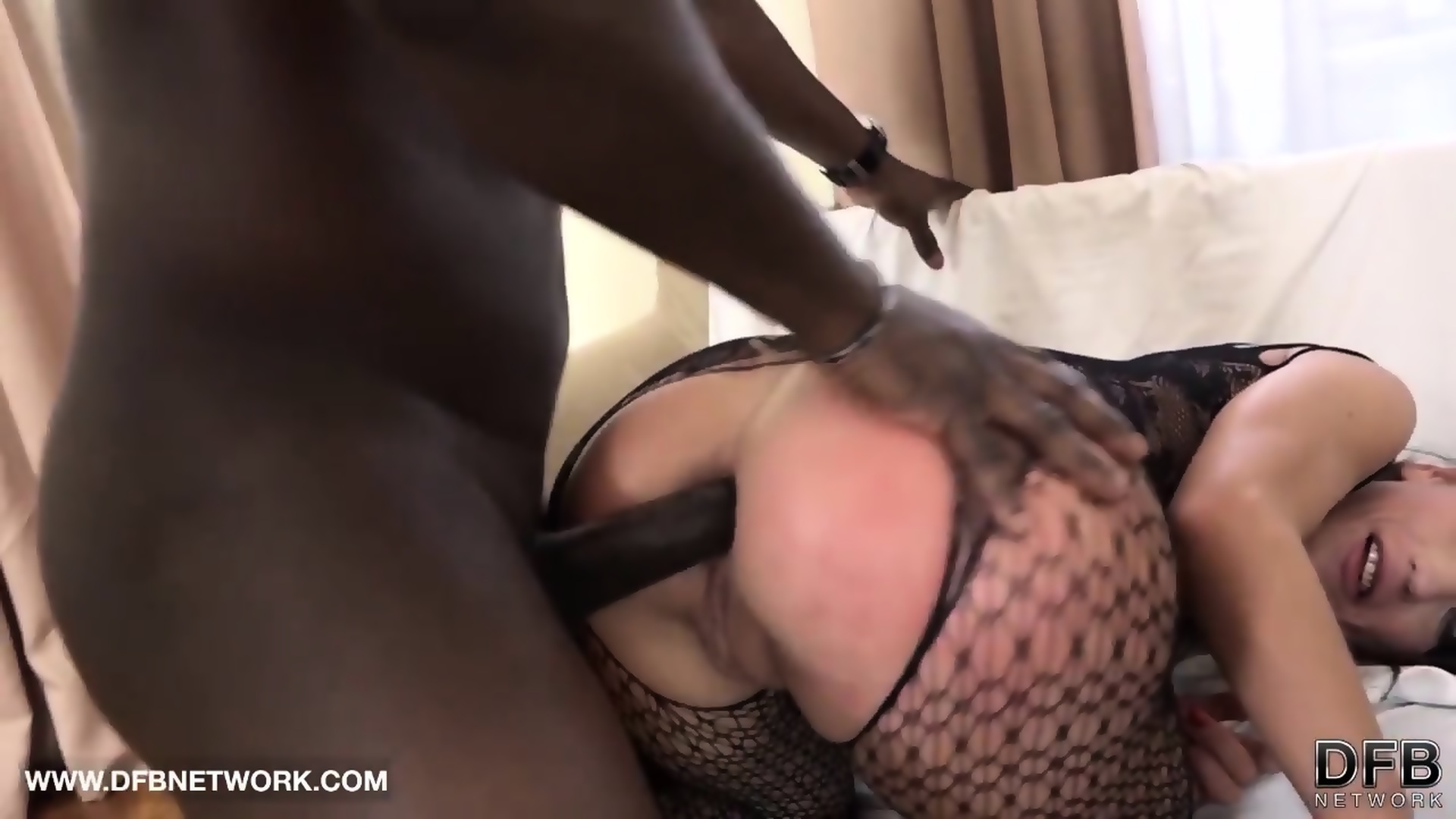Interracial double anal with