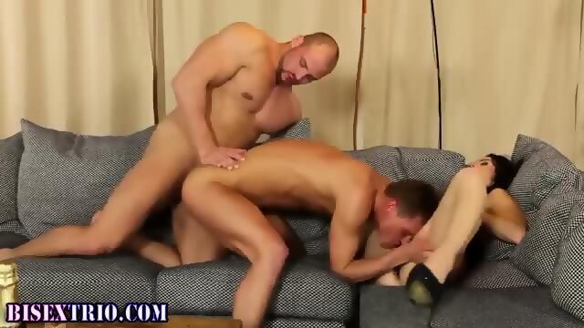 Bisexual Stud Pecs Jizzed