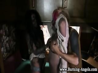 Gothic Zombies Suck Cock Sex Photo