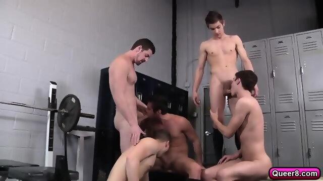 1 scene Locker gay room