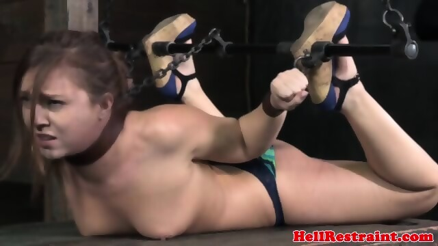 Tied clamped waxed and made to masturbate 9