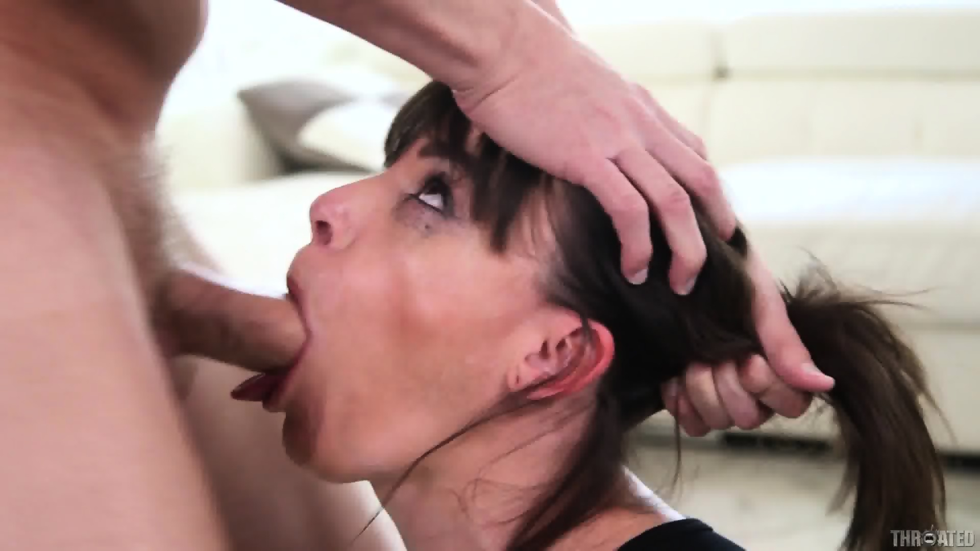 Deep throat cumming