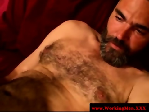 Straight Dilf Matures Masturbating