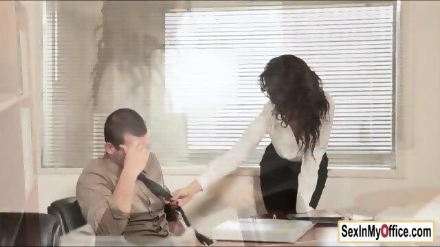 Girl fucked on office window — img 15