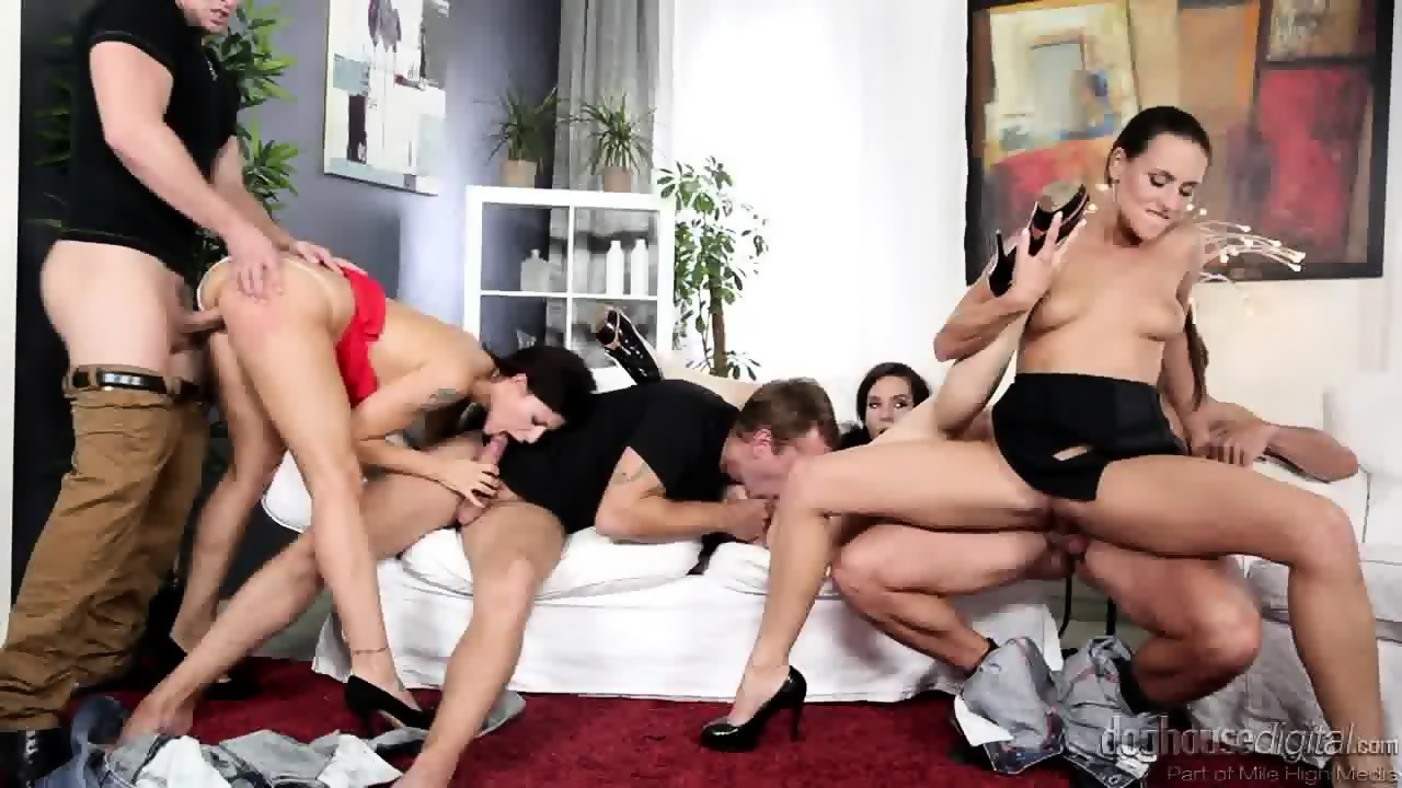 Group Sex With Three Hot Ladies Scene