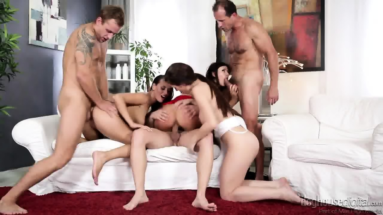 Hot group sex charming