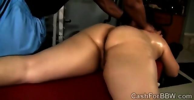 A masseur gives fat ebony heather mason sex toy orgasms 10
