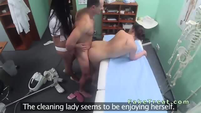 Fake hospital doctor fucks patients tight pussy 4