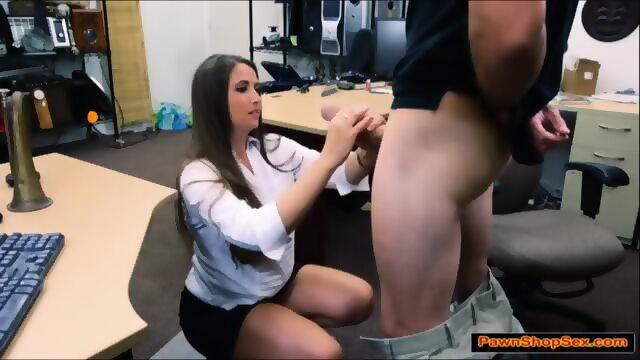 Girl gives blowjob to dennys waiter