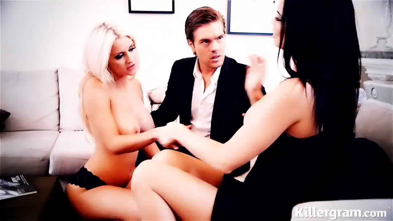 Sexy Lingerie Threesome Hd Blue Angel in sexy