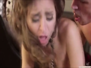 horny babe riley reid gets fucked hard from behind by her boyfriend