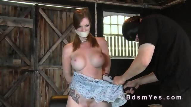 Hairy redhead bdsm