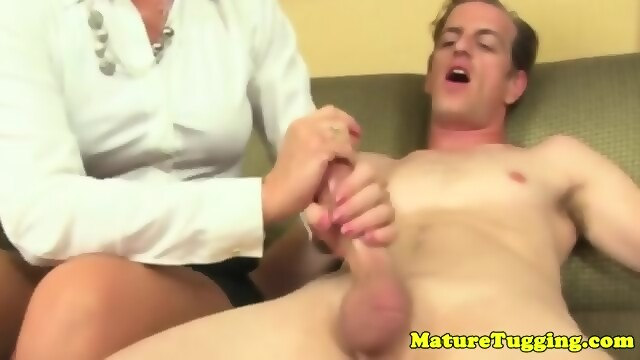 Think, that Cock tugging mature