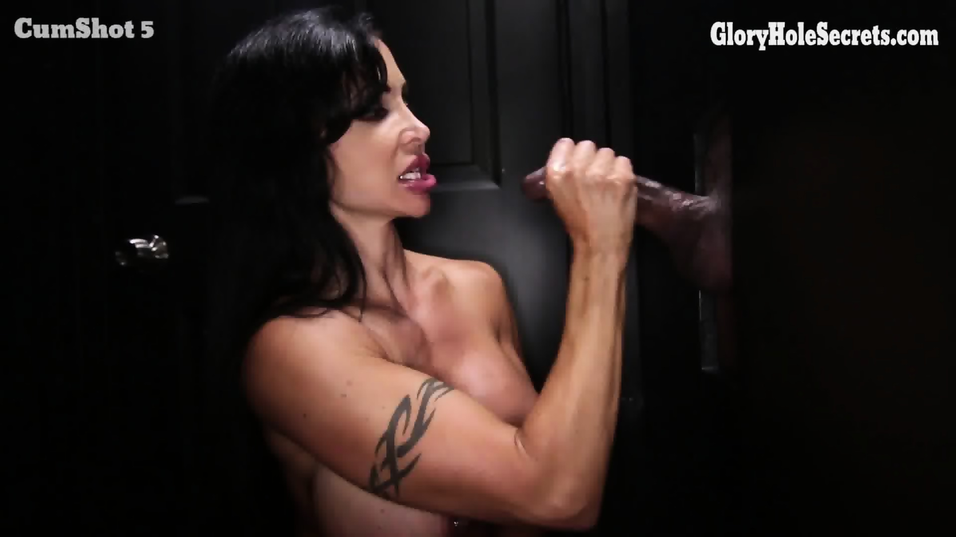 Cum filled glory hole video