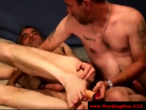 Straight bear rednecks toy anal play 6