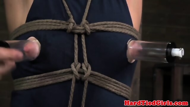 Ballgagged sub dildofucked while restrained 5