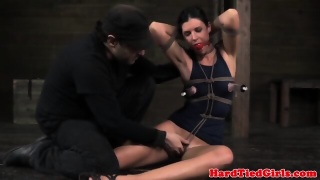 image Restrained sub skank learns discipline by mal