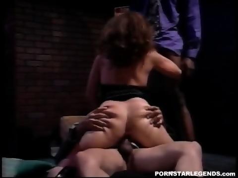 White slut double fucked by 2 big black cocks 6