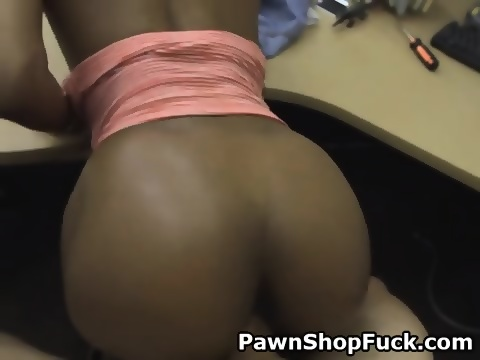 Black Girl Fucked Doggystyle And Taking Facial In Pawn Shop Scene 3