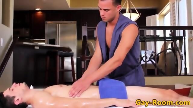 Massage fetish jocks bumfucking on massage table