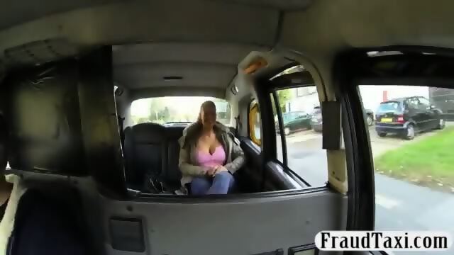 Massive boobs passenger screwed by driver