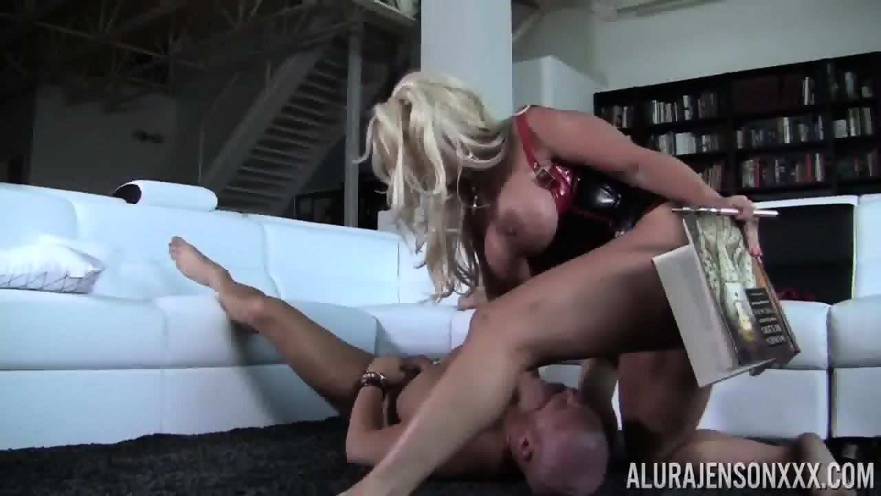 Busty dame in sex slavery get solace from the erotic treats she is served 2