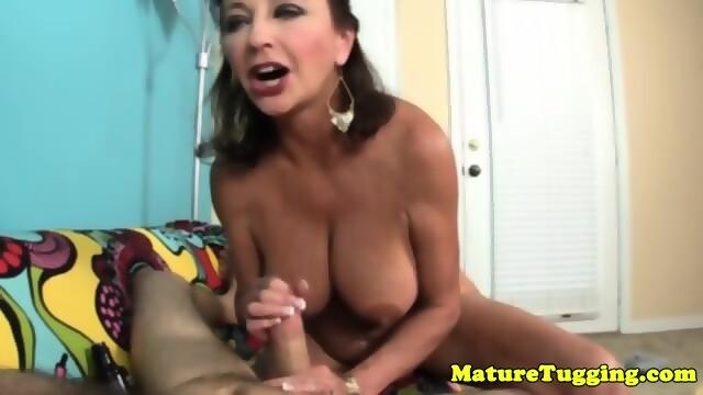 Massive fake tits pov