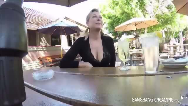 Cum in her pussy gangbang
