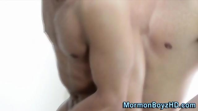 Muscly Mormons 3way Cum