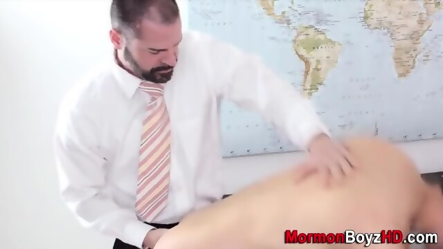 Bishop anoints with cum