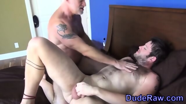 Silver fox fucks stud ass