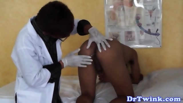 Asian Doctor Gives Twink Patient Enema