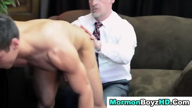 Sexy elder gets spanked