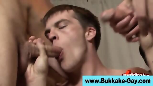 Bukkaked Stud Gets Rammed
