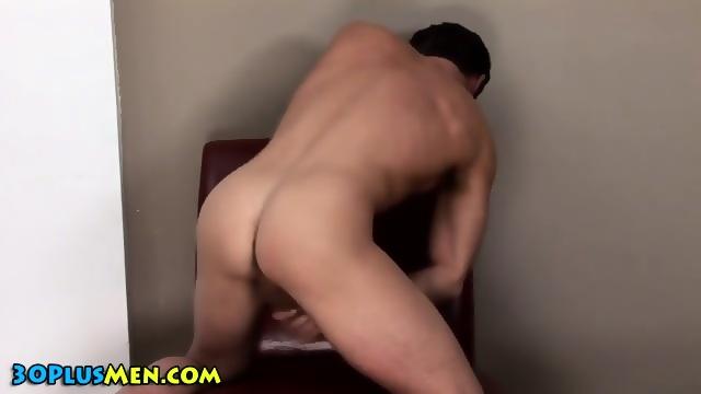 Cock Stroking Hunk Cums
