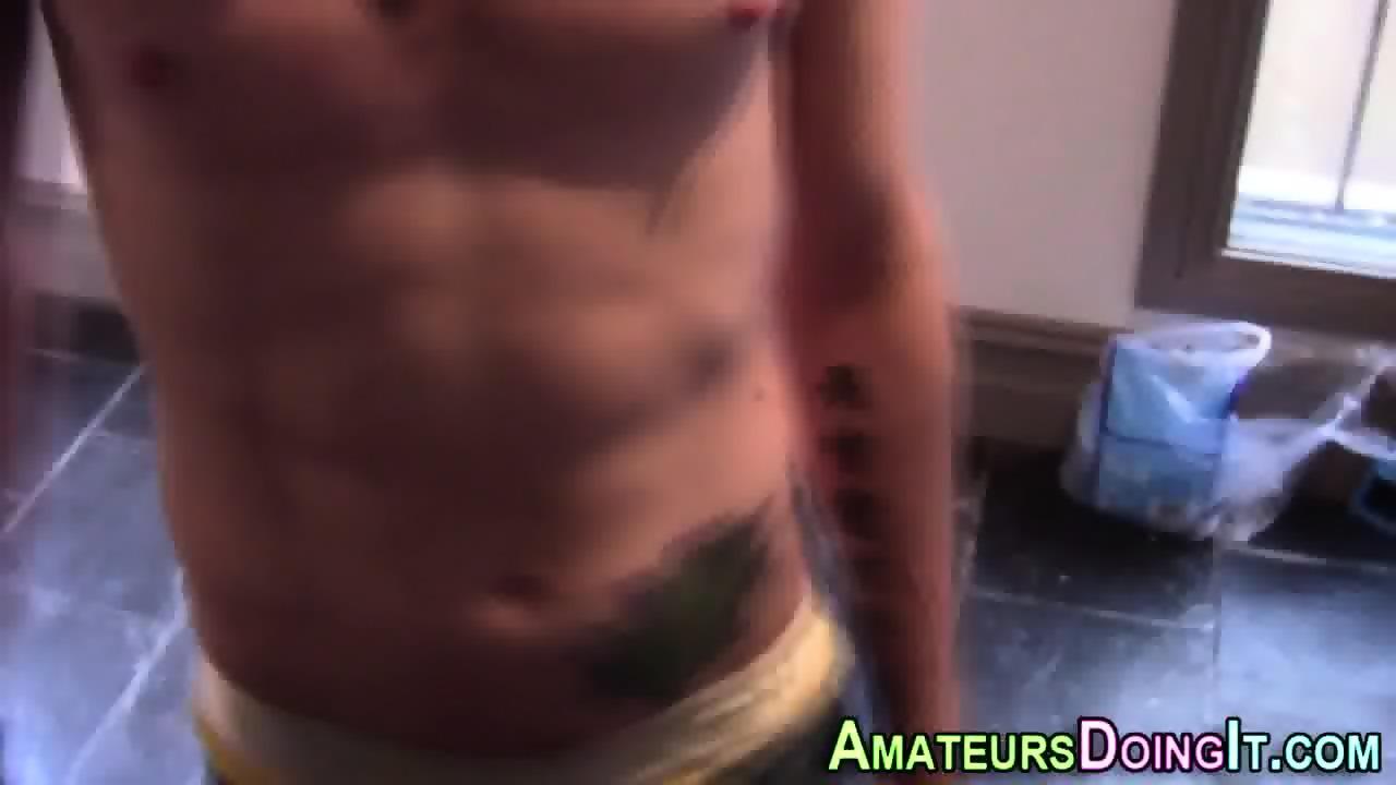 Skinny newbs kitchen cum