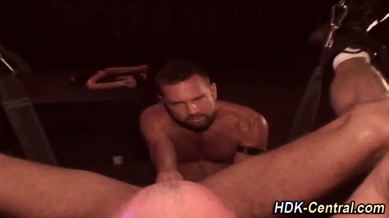 Double fisted ass gets cumshot