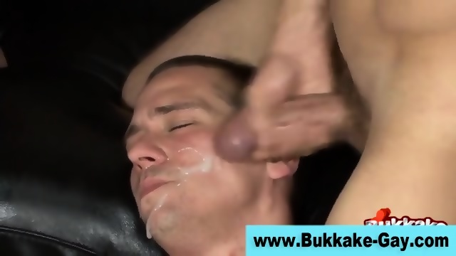 Blew bukkake group facials wife