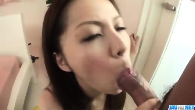 image Rika koizumi sucks the dick before placing