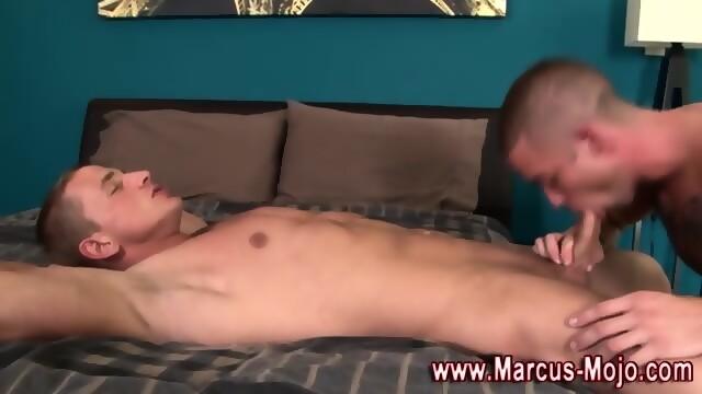 Marcus mojo eats cum