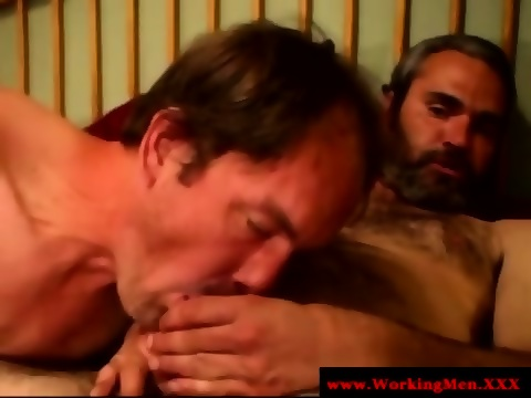 Hairy gaysex biker sucked and tugs