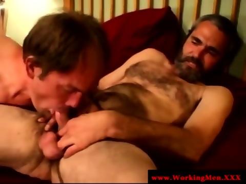 Hairy gaysex biker sucked and tugs