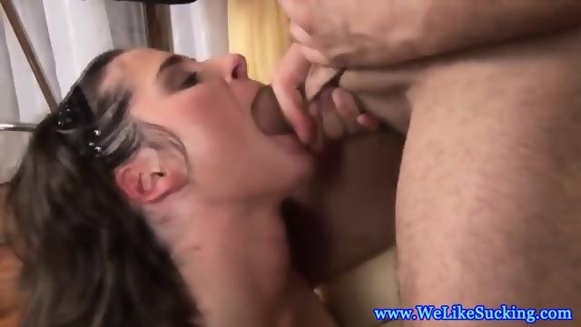 Blowing amateur eurobabe facialized 2