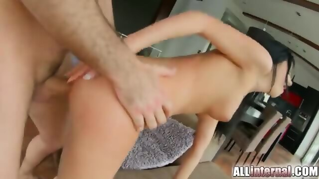 All internal dark hair and 100 watt smile honey gets fucked 3
